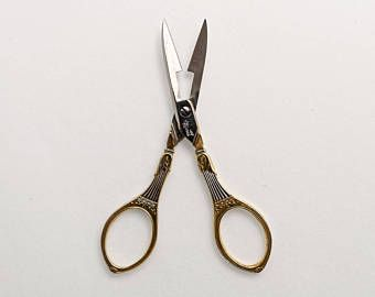 Collectible Antique Buttonhole Scissors, Mabruso Solingen, Needlework Collectibles, Mother's Day Birthday Gift for Her Antique Collector