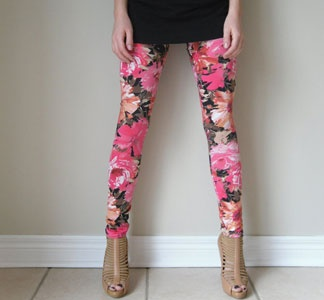 I'm not usually a huge foral print lover.  but theres something about these that I really dig, paired with neutrals.