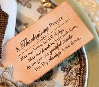 Thsnksgiving Prayer