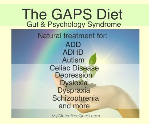 Gaps Diet: natural treatment for : ADD, ADHD, Autism, Celiac Disease, Depression, Dyslexia, Dyspraxia, Schizophrenia, and more...