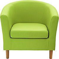 ColourMatch Fabric Tub Chair - Apple Green.