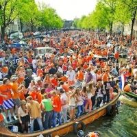 From GlobalGrasshopper: Amsterdam's King's Day http://www.globalgrasshopper.com/destinations/europe/6-reasons-add-amsterdams-kings-day-travel-list/