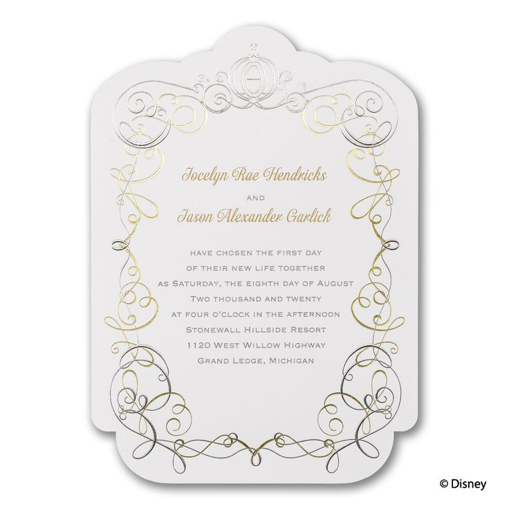 22 best Disney Fairy Tale Cinderella Wedding Invitations images on