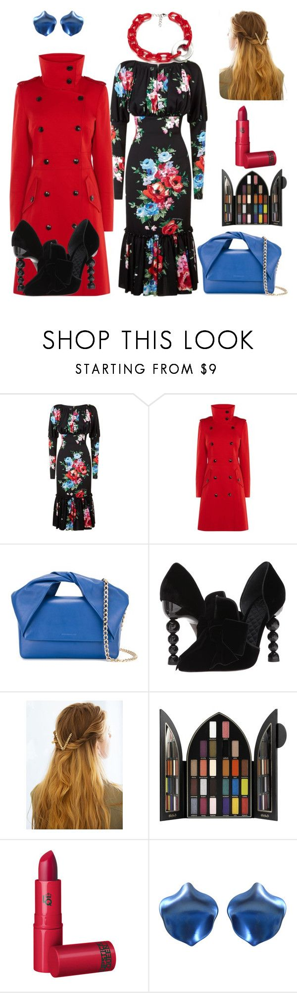 """""""Winter dress"""" by audreybrookezaring ❤ liked on Polyvore featuring Dolce&Gabbana, Karen Millen, J.W. Anderson, Tory Burch, WithChic, Kat Von D, Lipstick Queen and Slater Zorn"""