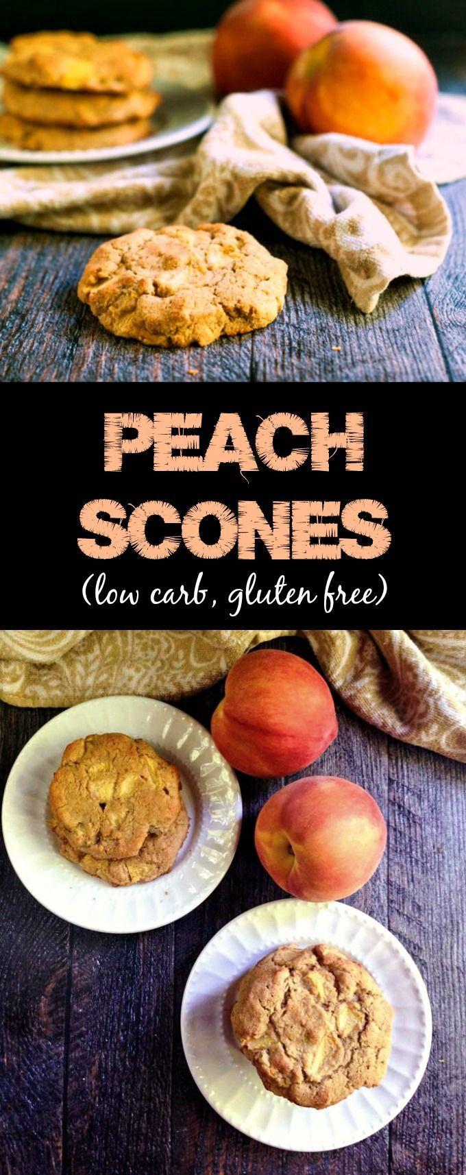 Peach Scones (gluten free, low carb)