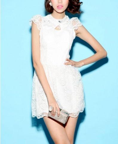 Bodycon Mini Dress with Crochet Lace Details