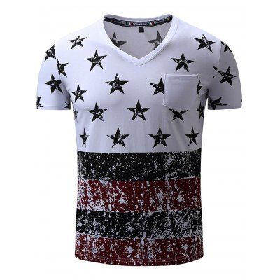 Just US$11.43, buy Colormix FREDD MARSHALL Printed Front Pocket T Shirts online shopping at GearBest.com Mobile.