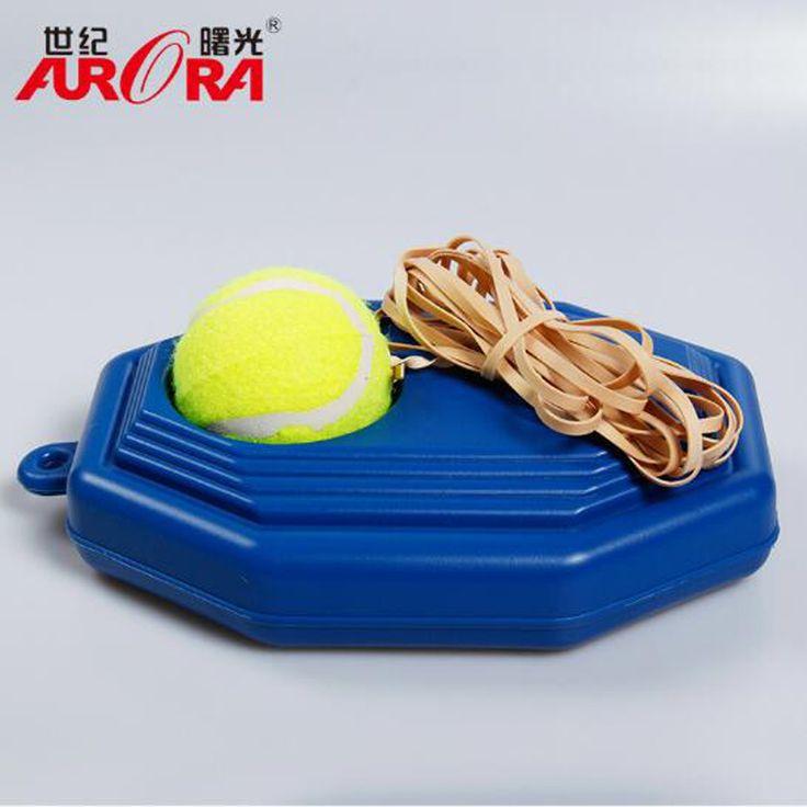 Hot Tugas berat Rebound Bola Tenis Bola Tenis Pelatihan Alat + Latihan Belajar Sendiri dengan Perangkat Trainer Alas Tiang Tenis Sparring