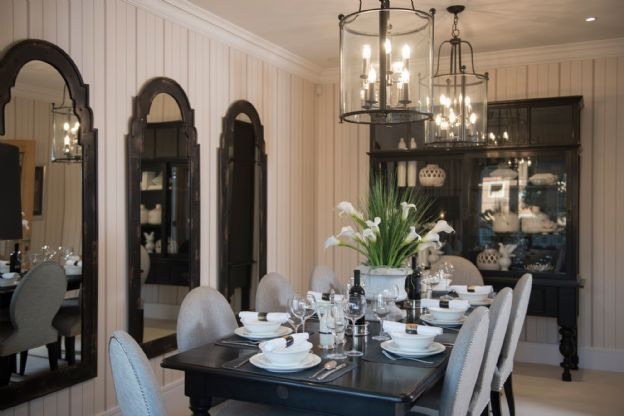 Show Home dining room by Alexander James Interiors