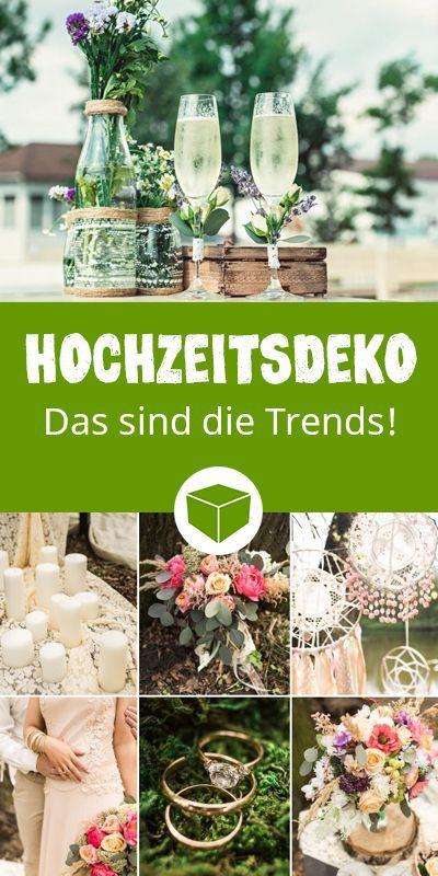 Hochzeitsdeko: Das sind die Trends