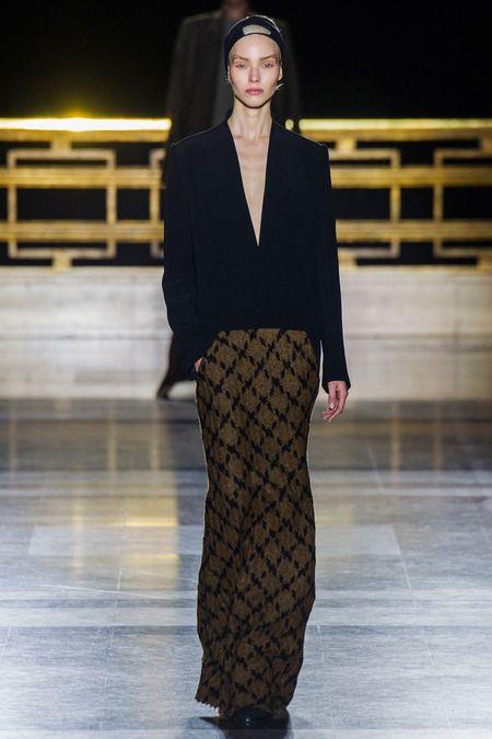 Haider Ackermann F/W 2014, black blazer, full length skirt