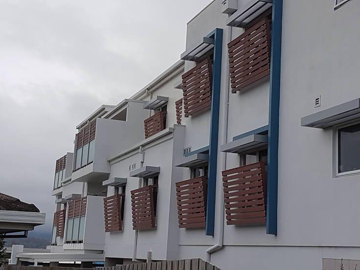 Jarrah Screen; for multi-level apartments #ModWood #88mm #Screen #Fence