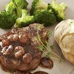 Seared Steak with Pan-Roasted Grape.                (Diabetic Connect recipe)