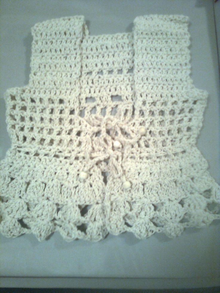 Chalecos moda niñas coquetas - Crochet - Tejidos de Punto - 24276