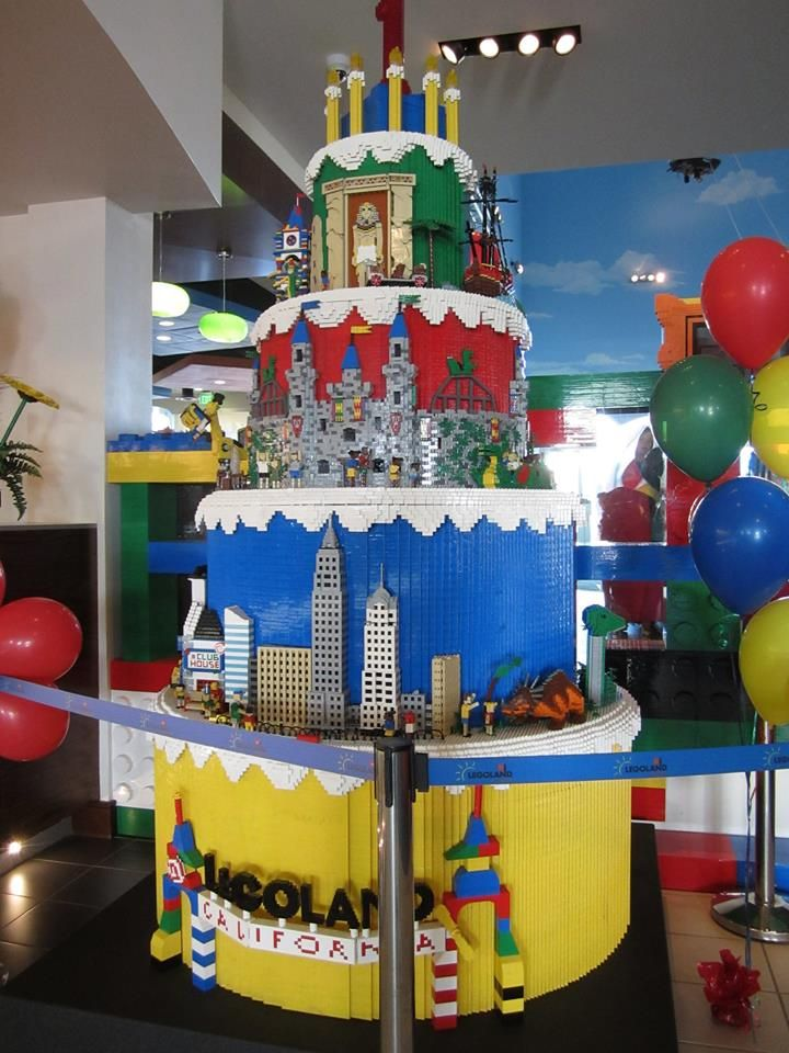 Legoland Hotel California Birthday Cake