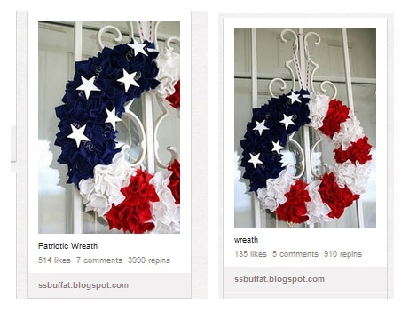 Beautiful Patriotic Wreath Tutorial - square felts, foam wreath, wire, stars - and lots of patience.