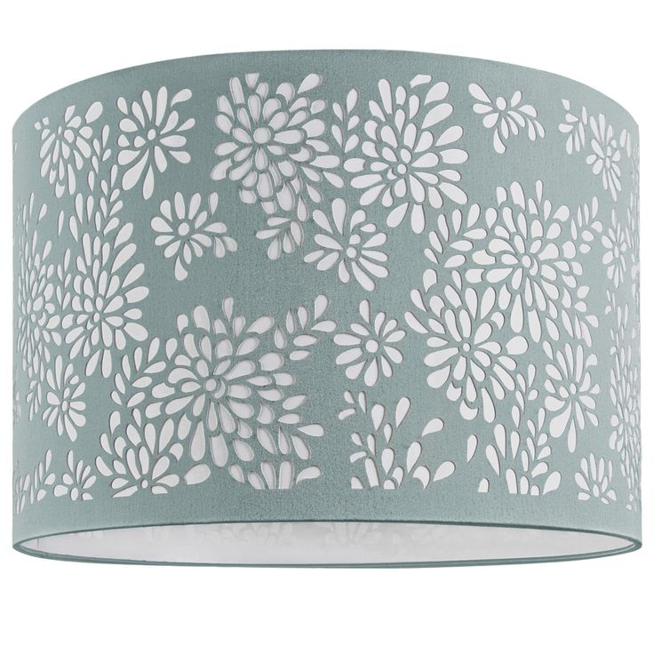 For a floor lamp Floral Laser Cut Lamp Shade Duck Egg Blue