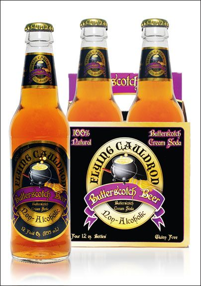 """Butterscotch-Beer (aka Butter Beer from Harry Potter) - just got some from a friend and it is yummy! It even comes from the """"flying cauldron."""" Awesome!"""