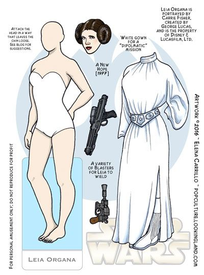 Star Wars Archives ~ Pop Culture Paper Dolls © Elena Carrillo