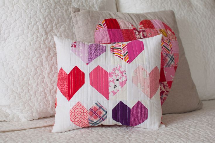 scrappy little heart pillow   Flickr - Photo Sharing!