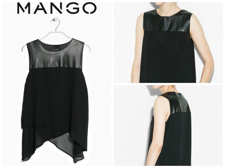 Mango - Top doble capa panel