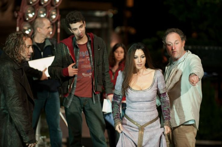 Nicolas Cage, Monica Bellucci, Jon Turteltaub and Jay Baruchel in The Sorcerer's Apprentice (2010)
