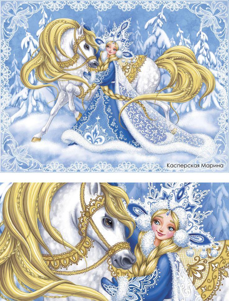 Изумительные зимне -новогодние работы Касперской Марины. Обсуждение на LiveInternet - Российский Сервис Онлайн-Дневников