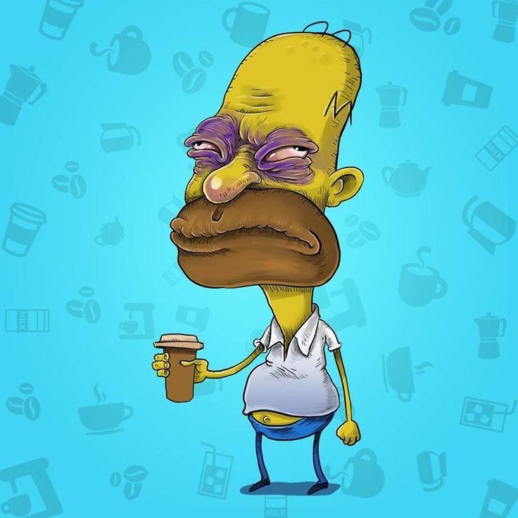 Homer Before Coffee - Samuel Milham
