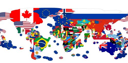 - Exclusive economic zone flag map with the European Union...