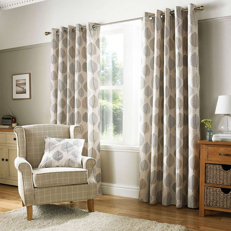 Dunelm Home: Pebble Regan Lined Eyelet Curtains