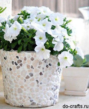 Декор цветочных горшков мастер класс 5