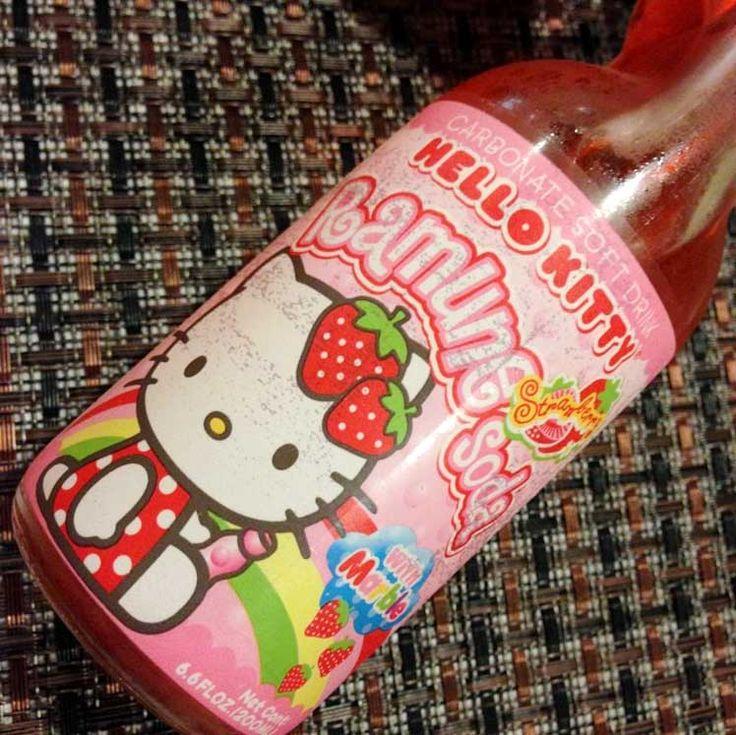 Hello Kitty Strawberry Ramune #hellokitty #ramune #kawaii #japan #merchandise