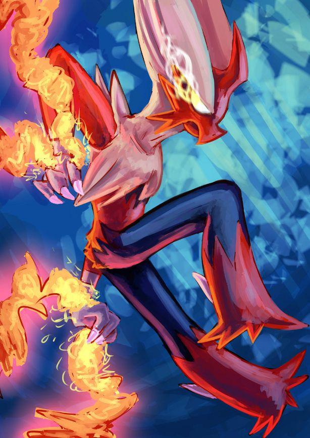 Mega evolution megalution blaziken art by erosplosion anime manga addict pinterest art - Pokemon mega evolution blaziken ...