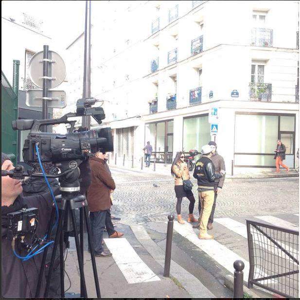 #tournage #film #arte #germainetillion #belleville #nicolasmagat #resistante #genevievedegaulle #bob2014 #painting #wallpainting #streetart #urban #wrung #caterpillar #shoe