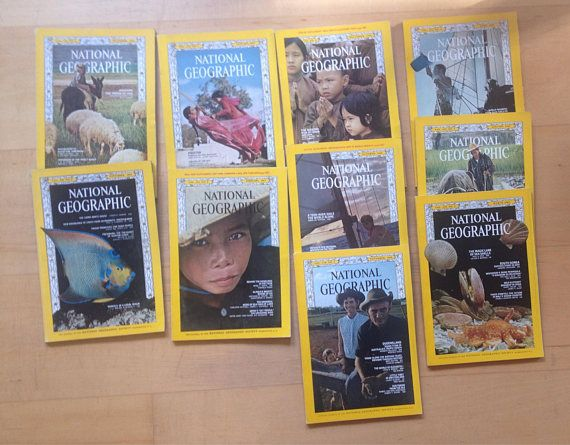 National Geographic magazine various volumes 1960s vintage