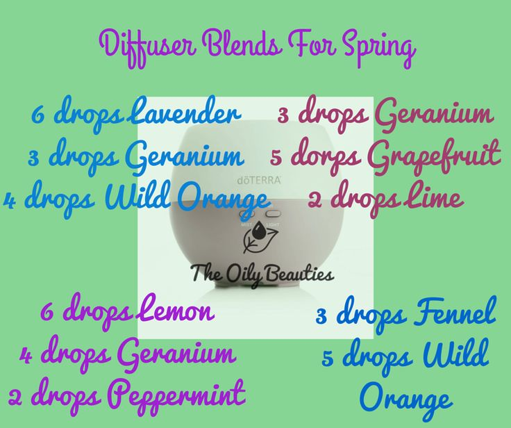 Great Blends to Diffuse for Spring! Learn how to get started with essential oils: http://glutenfreekidx.blogspot.com/p/how-to-order-doterra.html