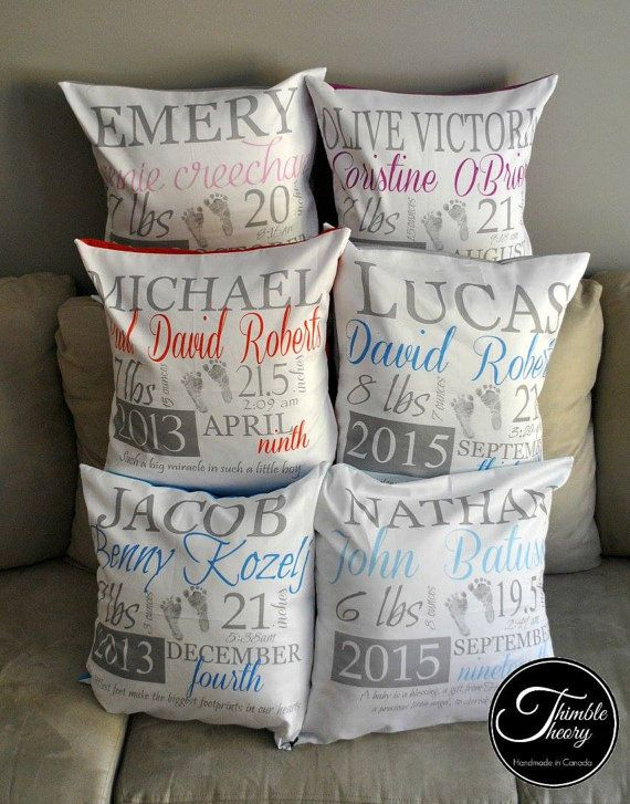 Baby Gift Baskets Utah : Best birth announcement pillows blankets images on