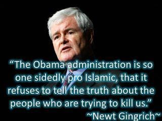 Newt on Islam: - Like and Repin if you agree!!!!