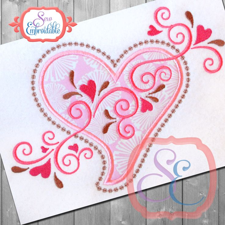 Best valentine applique embroidery images on
