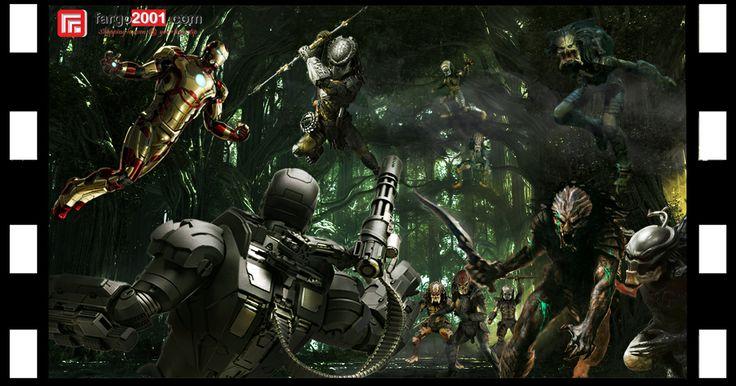 Scene 10: Iron Man & War Machine vs Predators ! http://fargo2001.com/action-figures-96