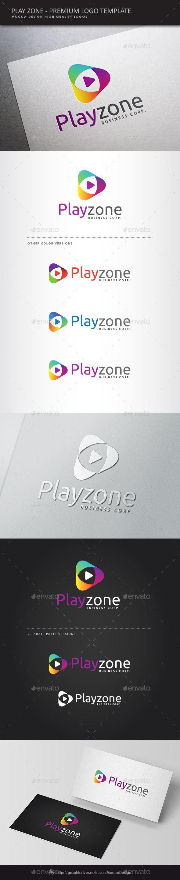 Play Zone Logo Template Vector EPS, AI Illustrator. Download here: https://graphicriver.net/item/play-zone-logo/10706964?ref=ksioks
