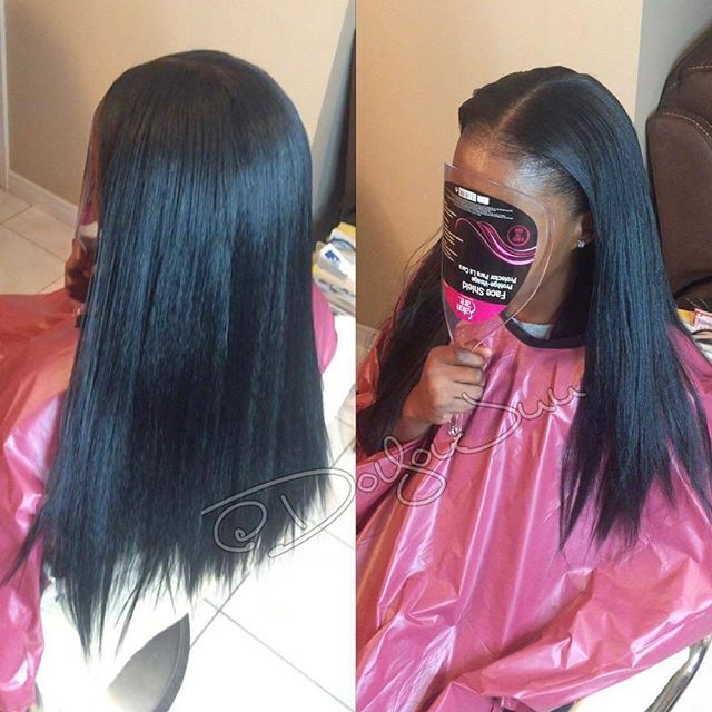 Vixen Crochet braids + Silk press straight + Done w/ 2 pks of definition hair  from @isis_hair_inc | @50ShadesOfJaey