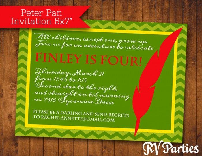 Peter pan invitation ivoiregion tinkerbell baby shower invitation orderecigsjuiceinfo filmwisefo