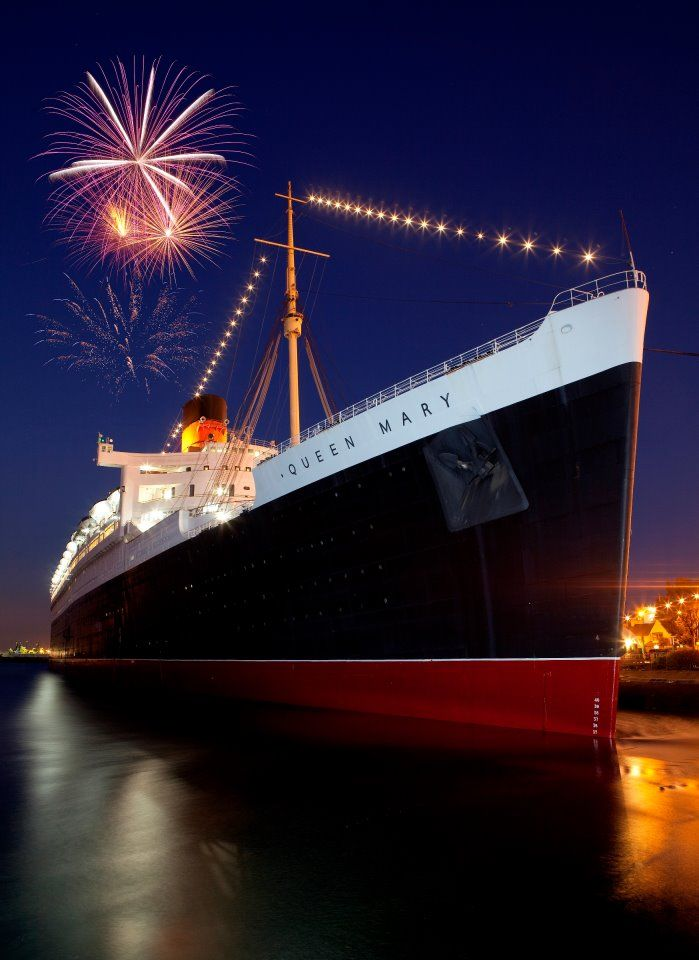 Take the Haunted tour on board the Queen Mary, Long Beach, California, and spend the night on the ship...iF I DARE!! :) :)