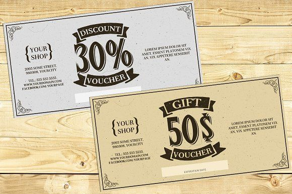 Vintage Gift Card Voucher Template Vintage Gifts Gifts Gift Card