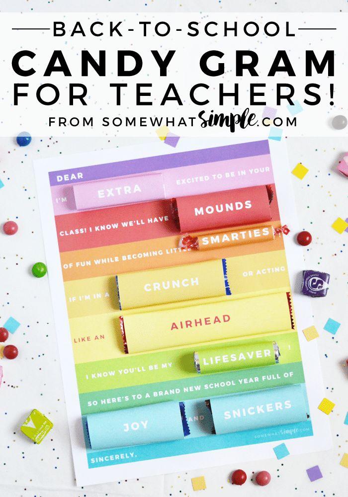 Back-to-School Candy Gram Teacher Gift