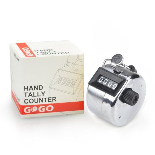 Gogo Tally Counter, Hand Held Counter, 4 Digit Manual Mechanical Click Counter, 2015 Amazon Top Rated Track & Field #Sports
