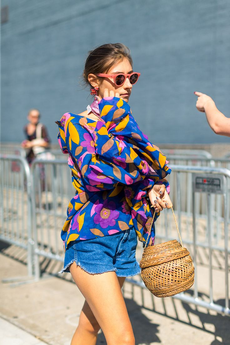 Bright patterns were all the rage at New York Fashion Week this year.