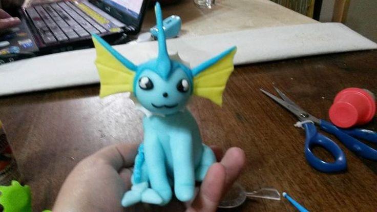 Vaporeon de Pokemon, en porcelana fria