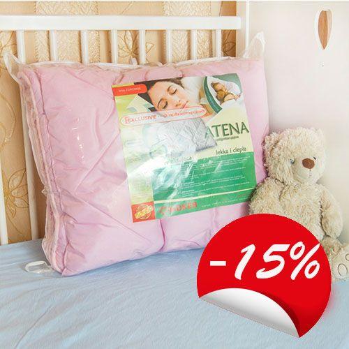 Kołdra plus poduszka dla dzieci bardzo ciepła i lekka Atena